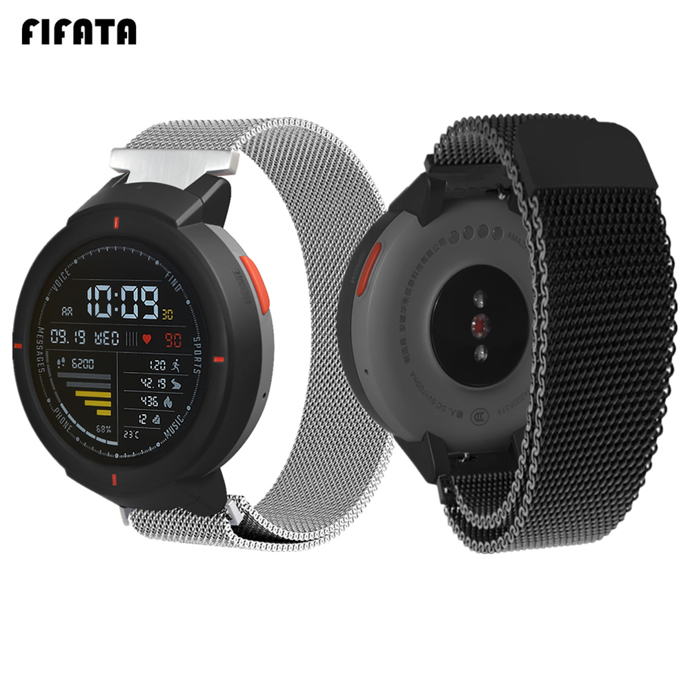 FIFATA Metal Strap For Xiaomi Huami Amazfit Verge 3 Smart Watch Stainless Steel Milanese Loop Watch Band For Amazfit 3 Bracelet|Smart Accessories| |  - title=