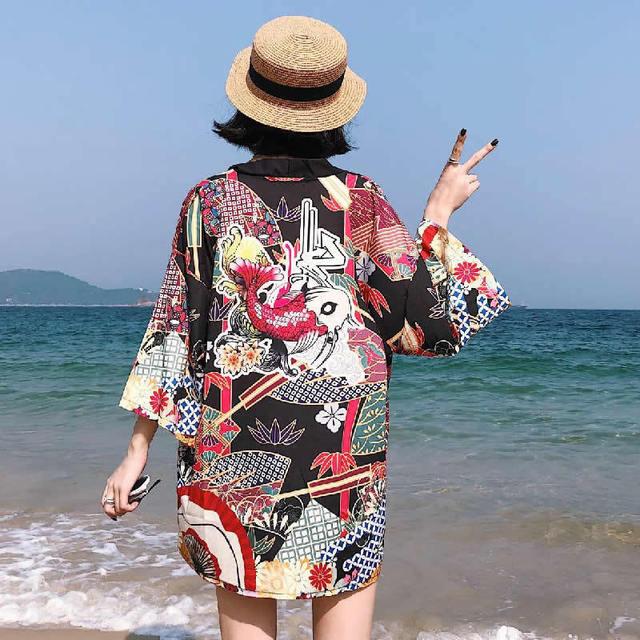 de48ec0561 Japanese Kimono Traditional Women Japanese Traditional Kimonos Traditional  Japanese Clothing Kimono Japan Dragon Print Quimono