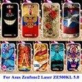 Panda tiger cat phone cases capas para asus zenfone2 laser ze500kl asus_z00ed habitação saco zenfone 2 laser ze500kg 5.0 polegada Shell