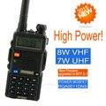 Baofeng uv 5r versão de alta potência uv-8hx, 1/4/8 w triplo poder vhf/uhf dupla banda walkie talkie melhor do que yanton t-850