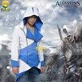 Аниме ролевая игра одежда Assassins Creed 3 III Коннер Kenway Толстовка Куртка Пальто Косплей Костюм На Заказ