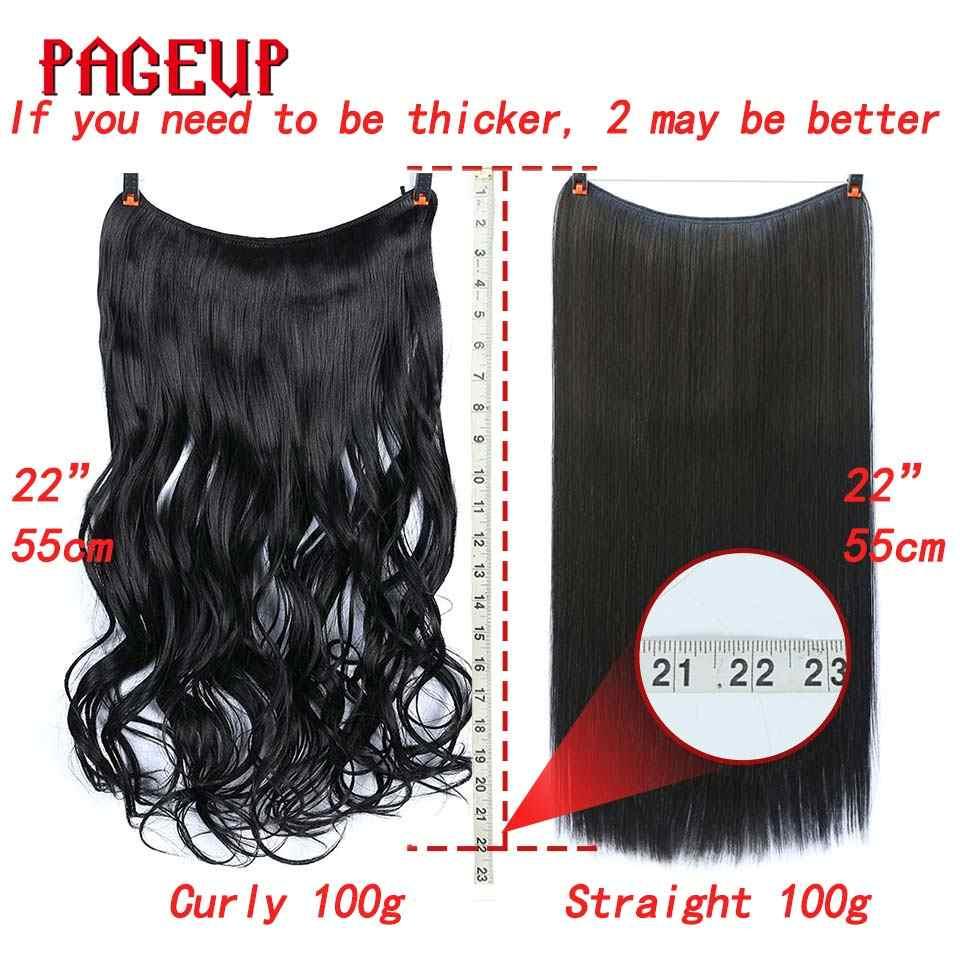 """22 """"длинные светлые невидимые провода без заколки для волос наращивание синтетические волосы на клипсах для женщин секретная леска волосы расширение"""