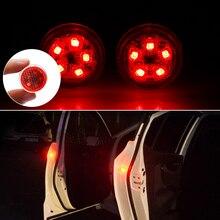 2 шт., новинка, Универсальный Автомобильный Дверной светодиодный Предупреждение льный фонарь для открывания, безопасный мигающий светильник, красный комплект, беспроводной сигнальный светильник с защитой от холода