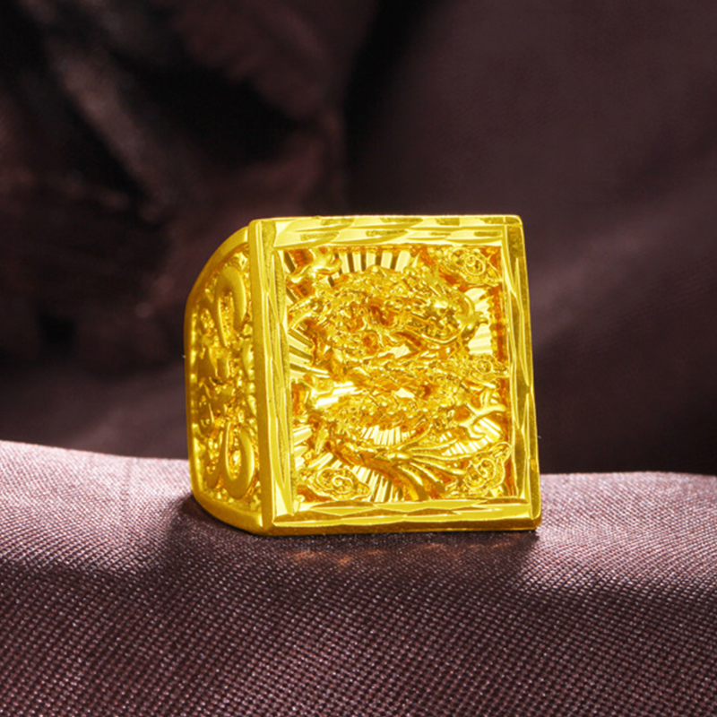 Vietnam Alluvial Gold Men S Rings Brass Jewelry Vintage