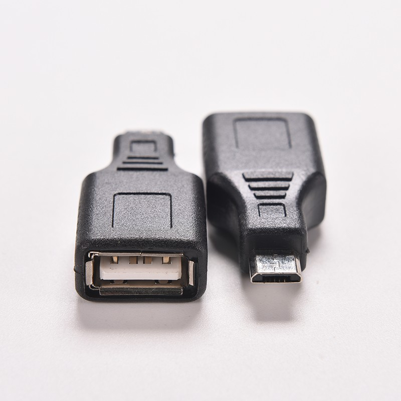 1PC Black F/M USB 2.0 A Female To Micro USB B 5 Pin Male Plug OTG Host Adapter Converter Connector up to 480Mbps