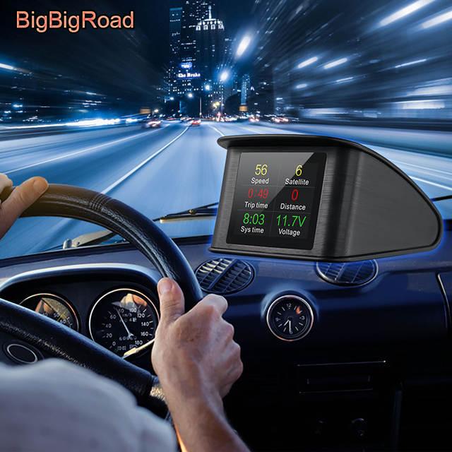 BigBigRoad For BMW 1 2 Series F20 F21 F22 X1 F48 F45 F46 i3 i8 E90 E39 Car  Hud OBD 2 Speed Windscreen Projector Head Up Display