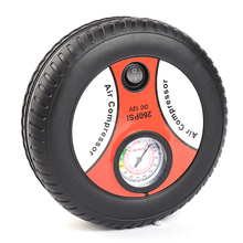 Автомобили мини надувной насос электрический датчик давления в шинах компрессор Портативный PSI 12 V воздушный насос насосы для шин для велосипеда мотора мяч