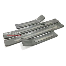 цена на New Stainless Steel Door Sill Scuff Plates For Hyundai Kona Car Door Sill Protector For Kona 2018 Accessories