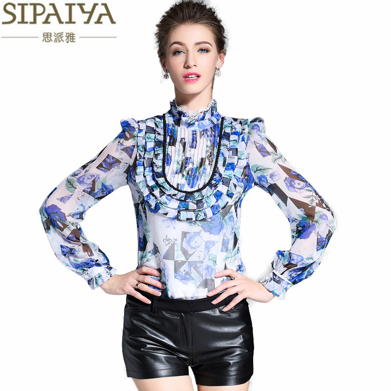 SIPAIYA 2017 New Design Luxury Silk font b Blouse b font font b Womens b font