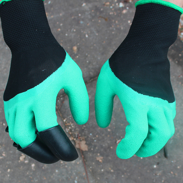 New Garden Gloves 8 ABS Plastic Claws for Garden Excavation Planting 3