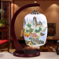 Ceramic Creative New Table Light Bedroom Bedside Lamp LED Lamp Table Lamp Room Retro Study Chinese