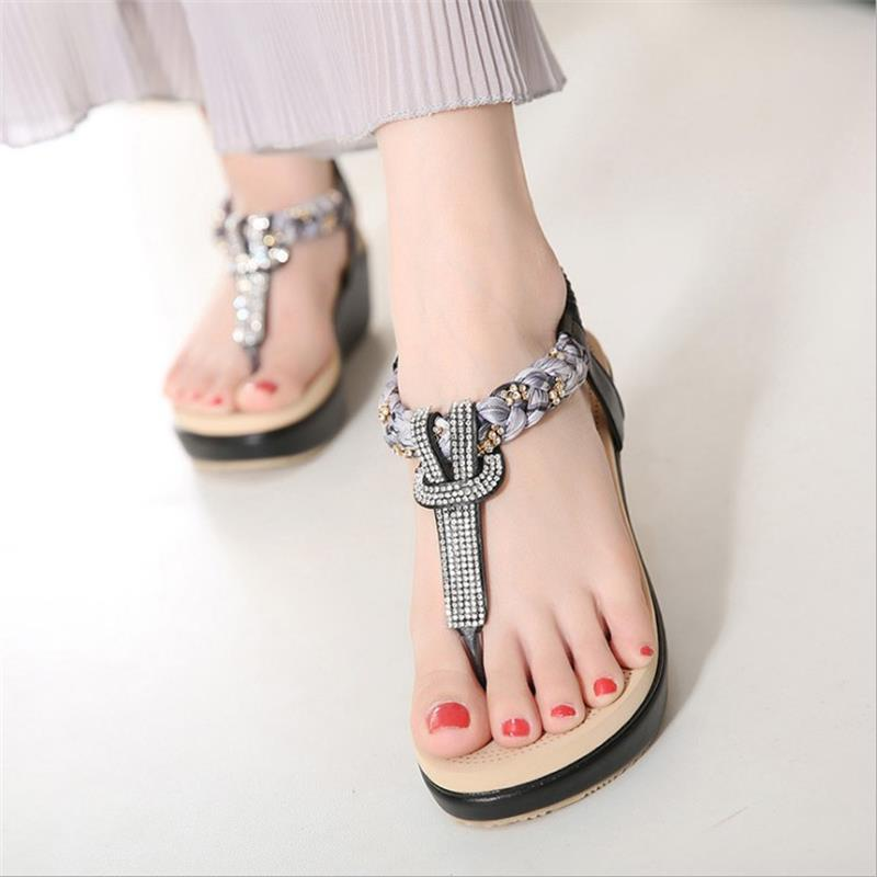Moda Femenino Flip Nuevo Playa Ocio Black Calzado Verano Planas Sandalias Hbt704 Shoes Casual Mujeres Plataforma Zapatos red Flops qgSw0Oq