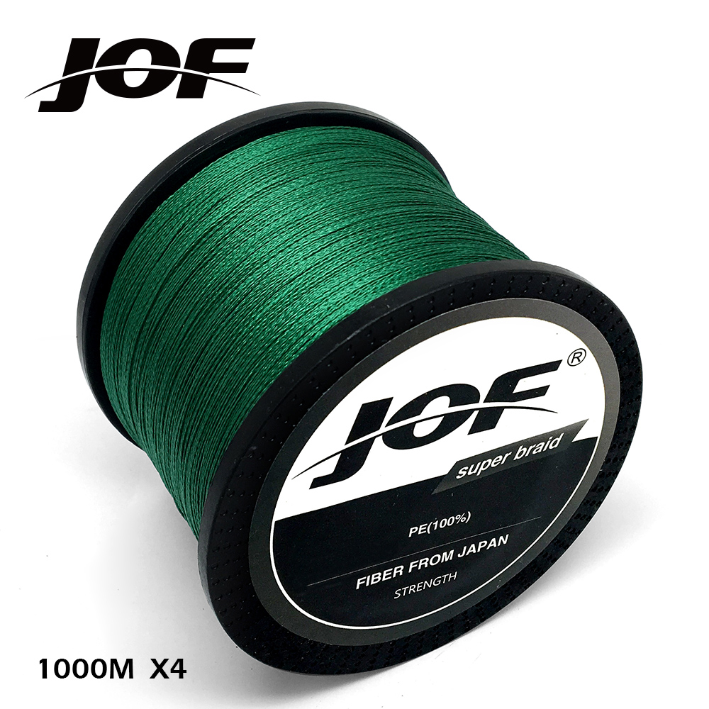 4 Strands 100M 150M 300M 500M 1000M PE Green Braided Fishing Line Sea Saltwater Fishing Weave Extreme SuperPower JOF бермуды