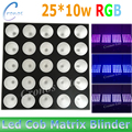 2pcs/lot 25*10w led wall wash matrix blinder light RGB 3in1 8/20 channel can choose