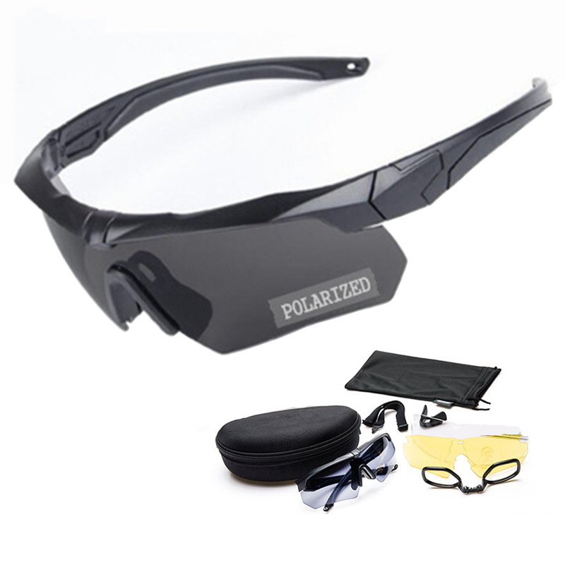Polarized Tactical Shooting Goggles Anti-impact Jungle Forest War Game Airsoft Paintball Glasses Military Protective Eyewear