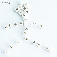 10 sztuk Silikonowe Koraliki List Dziecko Gryzak dla Każdego Imienia na Smoczek Łańcuch Klipy 12 MM Żucia Koraliki Naszyjnik Ząbkowania Zabawki