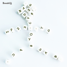 10pcs Silicone Letter Beads font b Baby b font Teether for Any Name on Pacifier Chain