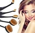 2017 Pinceles de Maquillaje Profesional 5 unids Soft Hair Make Up Brushes Powder Foundation Brush Cosmética Como cepillo de Dientes portátil D244