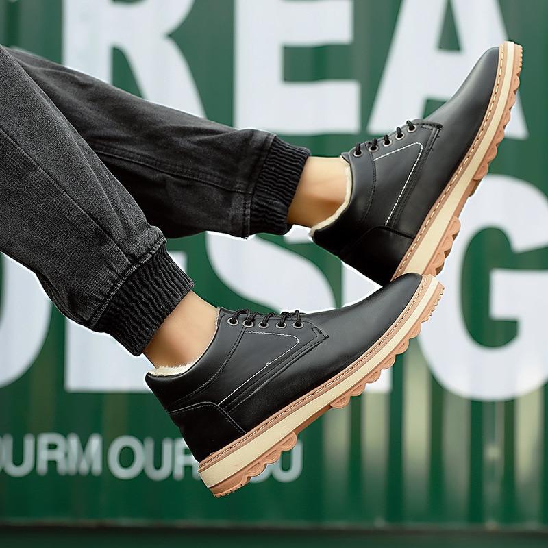 44 Noir Adolescents D'hiver 39 De Plus Les Chaussures Panneau Coton Velours Hommes Cuir bleu Simple En Chaud Taille Bottes Hautes UqndTnCw
