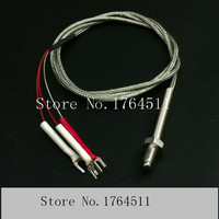 [BELLA] Threaded screw type temperature sensor PT100 RTD temperature probe with shielding design: M6 * 12 5pcs/lot