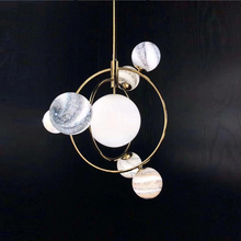 Waendering Earth Postmodern novelty LED chandelier living room hanging lights bedroom pendant lamps Nordic dining room fixtures цена и фото
