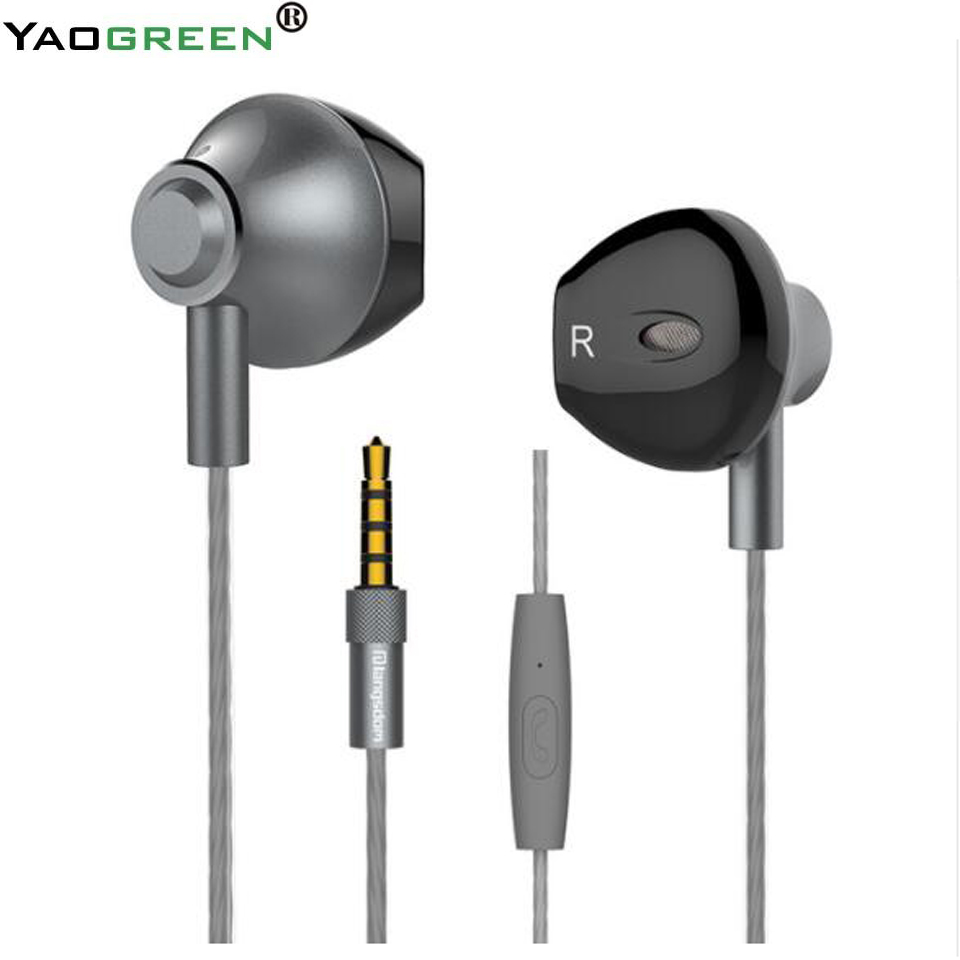 M420 High Quality Metal Alloy Earphones Bass Headset Stereo Earphones Music Earphones with Mic for Phones one de ouvido