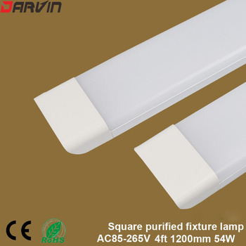guxen 4ft led tubes 22w 28w t8 led tube lamp 1200mm ac90 260v single double row 2835 led lamp 2 years warranty ce rohs 10pcs ceiling led Tube  Light 1200mm 4ft 54W Led Linear Puff Light Flat Batten Fixture Super Bright Replace Fluorescent Lamp