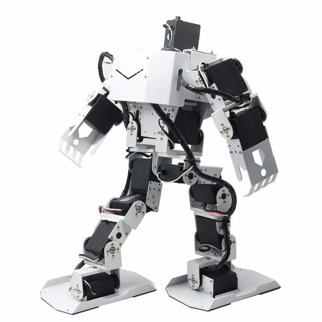 17DOF Robô-Alma H3.0 Bípede Robtic Robô Humano de Duas Pernas Moldura de Alumínio Kit w/17 pcs Servo