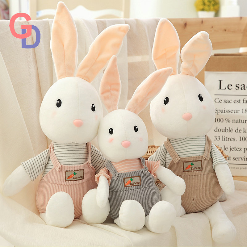 Super Cute Suitting Dress Rabbit White Bunny Stuffed Animals Toy