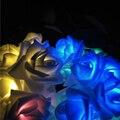 RGB Iluminação LED Solar Cordas Luz Solar Operado Partido Da Flor Do Casamento de Rosa de Natal Luzes Da Decoração de Corda 20LED 4.8 M Luz