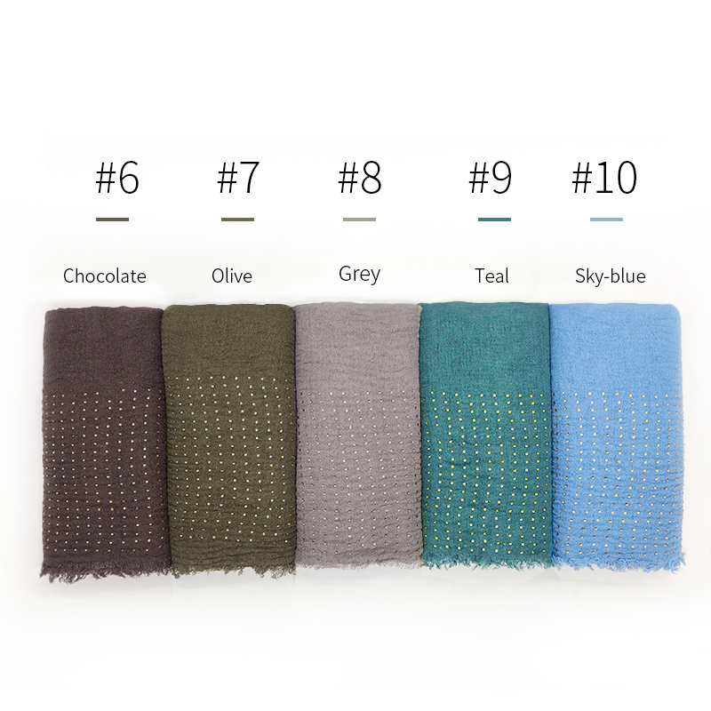 Image 3 - NEW diamond Plain wrinkle hijab scarf women crinkle scarves and 