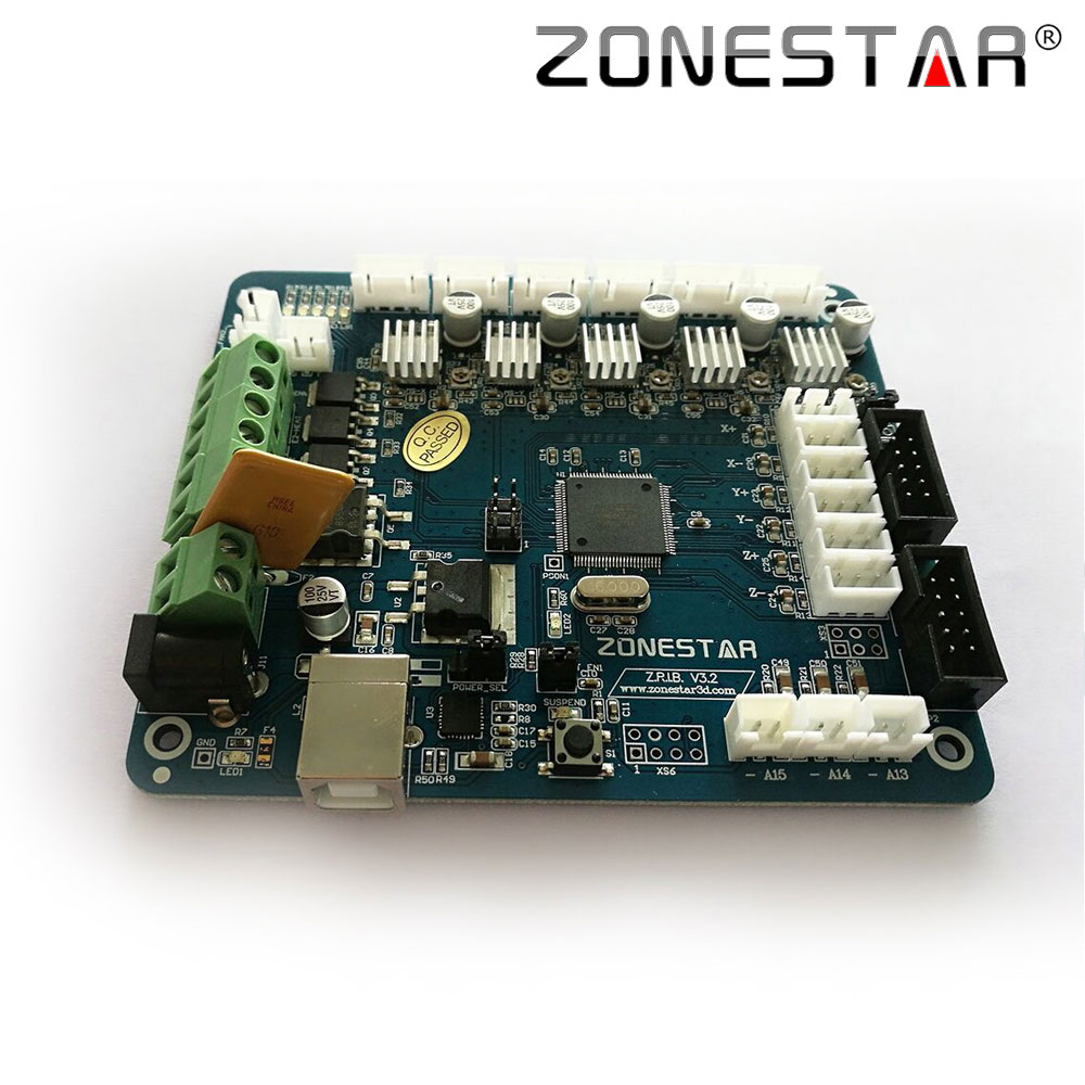 Zonestar Reprap 3D Printer Controller Board Motherboard ZRIB Compatible with RAMPS 1 4 Control Mendel i3 ramps 1 4 wiring diagram 24v dolgular com Solidoodle 3 at crackthecode.co