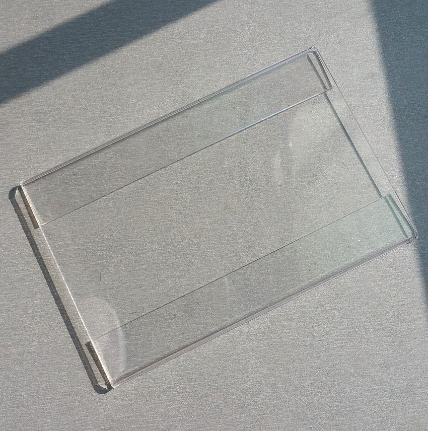 7283c8b848bfb 15x9 سنتيمتر T1.2mm البلاستيك الاكريليك علامة ثمن تسمية عرض حاملي بطاقة اسم  ورقة ترويج 1000 قطع جيدة جودة