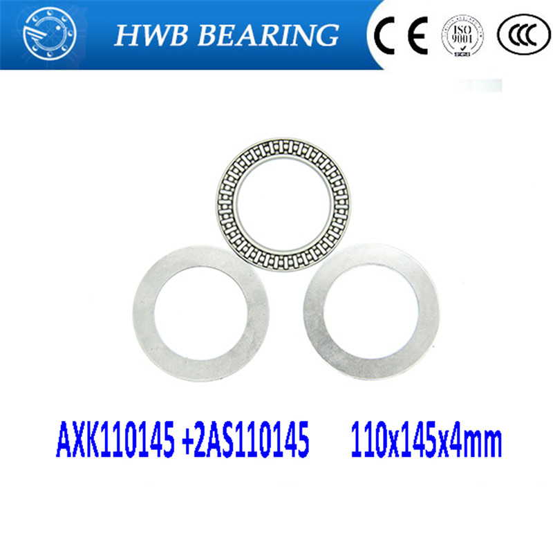 Free shipping 2pcs AXK series AXK110145 +2AS110145 thrust needle roller bearing 110x145x4mm bearing +whosale and retail na4910 heavy duty needle roller bearing entity needle bearing with inner ring 4524910 size 50 72 22