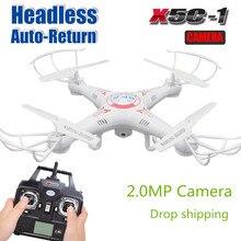 Más reciente Actualización X5C X5C-12.4G Quadrocopter RC Drone con cámara 720 P HD Cámara 6-Axis RC Helicóptero Kvadrokopter X5 sin cámara