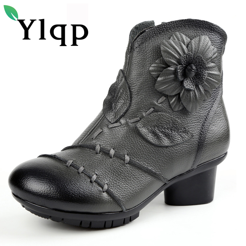 2017 High Quality Mujer Chaussure Women Genuine Leather Boots Casual Ladies Martin Shoes Summer Flat Boots