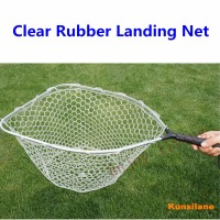 Rubber Mesh Landing Net With Removable Replaceable Handle Kayak Hand Net