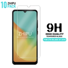 10 Pcs Tempered Glass For  ZTE Blade A7 2019 Screen Protector 2.5D 9H Protective Film