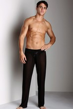 New men's casual yellow sports and  fitness household  cotton trousers running benmingnian loose  straight