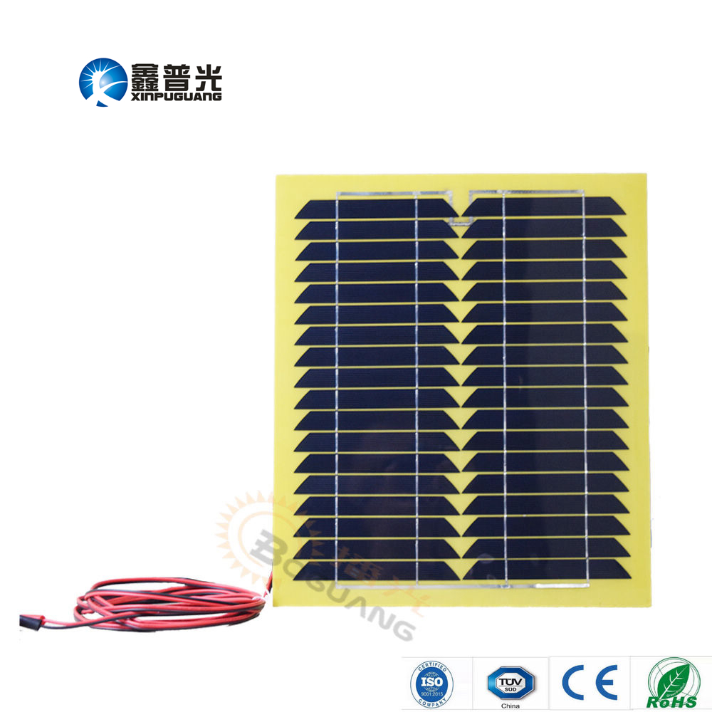Xinpuguang 15W 18V monocrystalline silicon solar panel cell module junction box cable for light LED car boat 12V battery