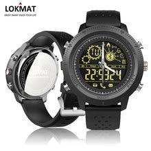 Lokmat بلوتوث سمارت ووتش الرجال في الرياضة عداد الخطى ساعة رقمية للماء ip68 smartwatch ل ios الروبوت الهاتف