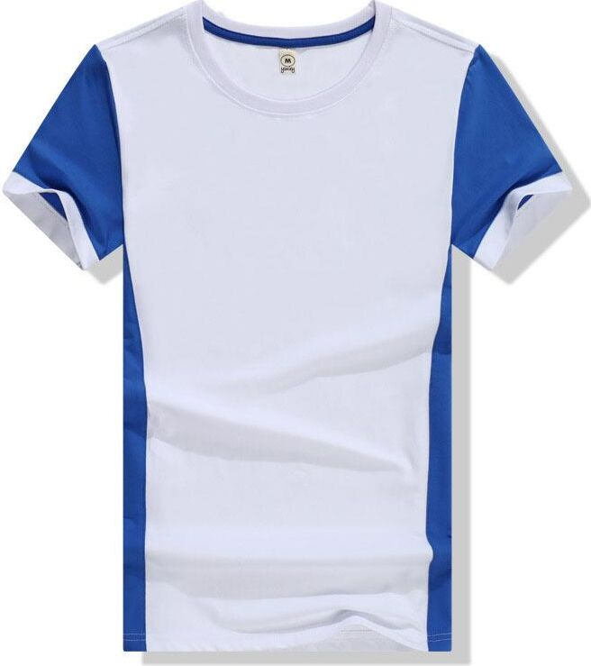 Simple White Men Shirts with Blue Sleeve Eyal Brand YSMILE Y 100% Cotton U Collar Ora#32 Quality Fasion 2017