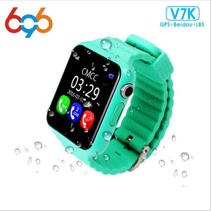 696 GPS montre intelligente enfants regarder V7k avec caméra/facebook SOS appel localisation DevicerTracker pour enfant sûr Anti-perte moniteur Q90