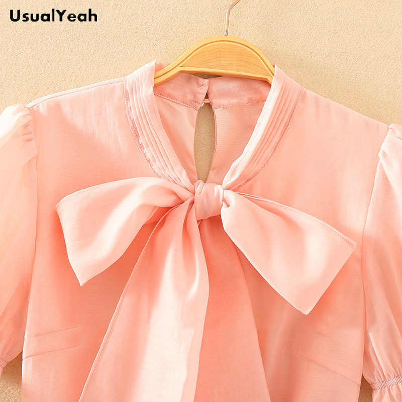 White Color Blusa Pink