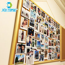 New 2018 Wooden Frame Cork Bulletin Board Notice Push Pin Boards Office Supplier 40*60cm Home Decorative With Free Accessories(China)