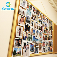 Купить с кэшбэком Free shipping Wooden Frame cork notice push pin boards office supplier 25*35cm factory direct sell home decorative