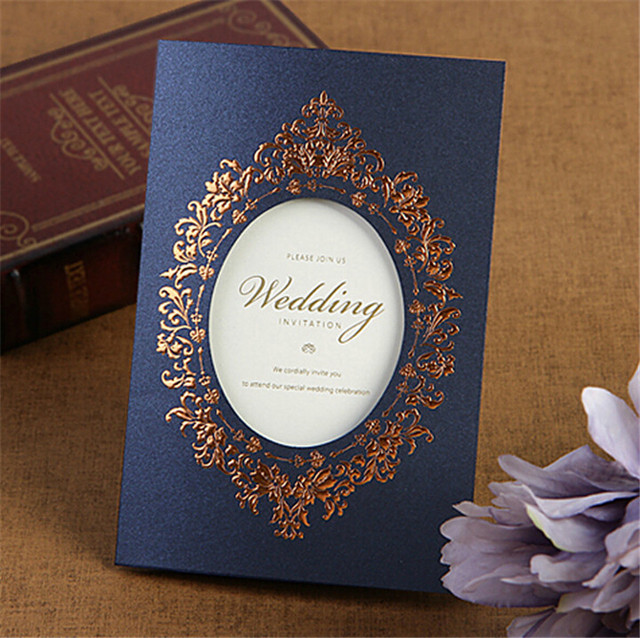 Newly Design Whole Royal Blue Invitation Card Creative Wedding Banquet