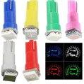 100pcs 12V T5 Auto Lamp Car Gauge Bulb instrument Light Blue Bulb Dashboard Instrument Dash Side Light Source Interior Lighting