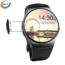 GFT kw18 smart zifferblatt und Beantworten Anruf mit sim-karte unterstützung NFC MP3/MP4/Bluetooth musik player drei farbe smartwatch