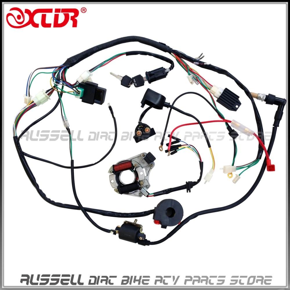 medium resolution of 110cc atv parts full electrics wiring harness cdi coil 110cc quad bike buggy gokart parts accerssories